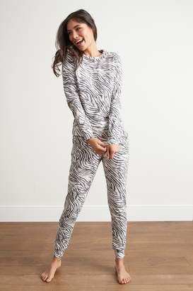 Next Womens Monochrome Zebra Print Cotton Pyjamas 120a14d30