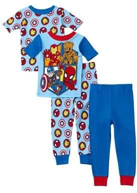 Character Sleepwear Boys' 4pc Superhero Adventures Set.