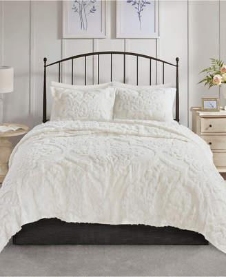 Jla Home Madison Park Viola Full/queen 3 Piece Cotton Chenille Damask Coverlet Set Bedding
