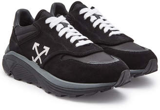 Off-White Jogger Sneakers with Leather