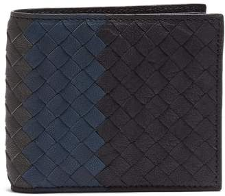 Bottega Veneta Tri-colour bi-fold Intrecciato leather wallet