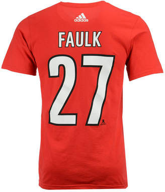 adidas Men Justin Faulk Carolina Hurricanes Silver Player T-Shirt