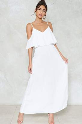 Nasty Gal Relaxed to the Maxi Cold Shoulder Dress
