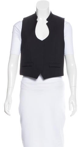 Saint LaurentYves Saint Laurent Wool Mock Collar Vest