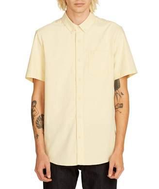 Volcom Men's Everett Oxford Modern Fit Short Sleeve Shirt