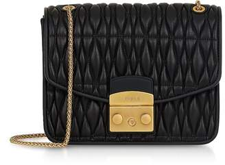 Furla Quilted Nappa Leather Metropolis Cometa S Crossbody w/Chain Strap