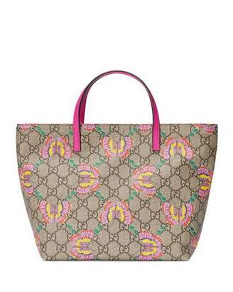 Gucci Girls' GG Supreme Butterfly Tote Bag, Beige