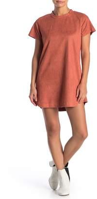 MinkPink Remember Me Faux Suede Shirt Dress