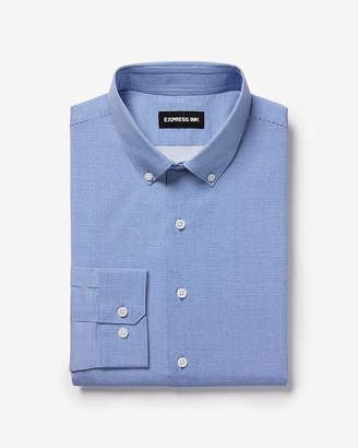 Express Slim Dot 1Mx Dress Shirt