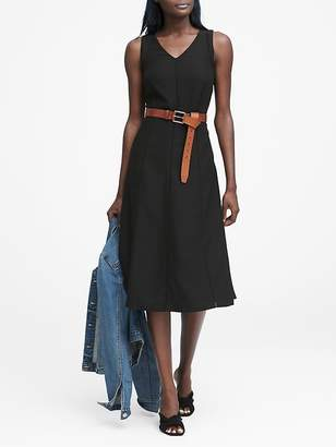 Banana Republic Paneled Midi Dress with Ladder Lace