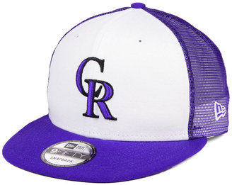 New Era Colorado Rockies Old School Mesh 9FIFTY Snapback Cap