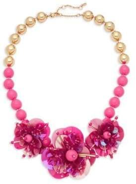 Kate Spade Floral Embellished Statement Necklace