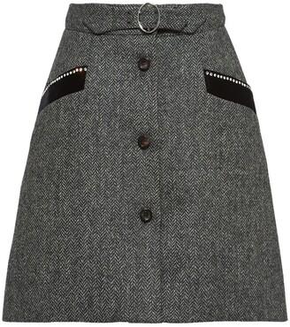 Miu Miu chevron shetland skirt