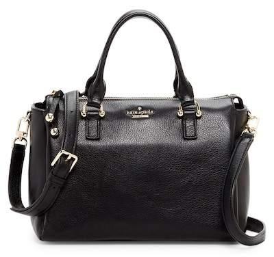 Kate Spade Bradie Leather Satchel Bag - BLACK - STYLE