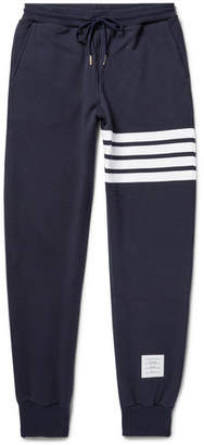 Thom Browne Tapered Striped Loopback Cotton-Jersey Sweatpants