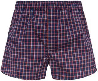 Derek Rose Check Cotton Boxer Shorts