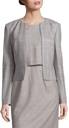 HUGO BOSS Women's Jafina Windowpane Jacket