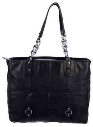 Salvatore Ferragamo Quilted Leather Tote Black Quilted Leather Tote