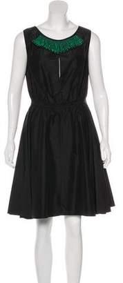 Behnaz Sarafpour Embellished Silk Dress