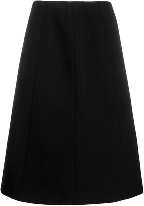 Maison Margiela stretch fit flared A-line skirt