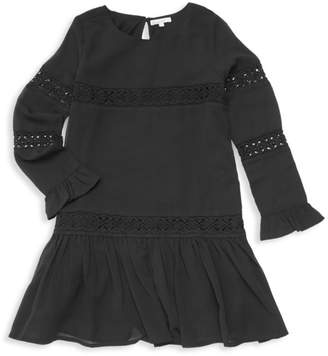 Ella Moss Girl's Crinkle Chiffon Dress