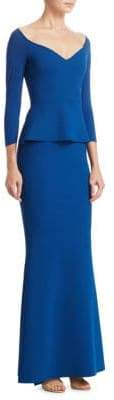 Chiara Boni Popover Peplum Dress