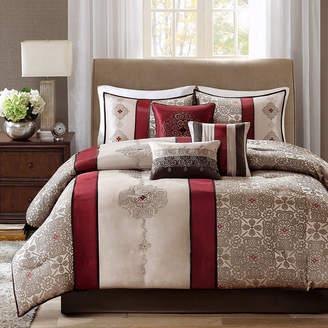 JCPenney Madison Park Blaine 7-pc. Jacquard Comforter Set