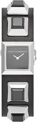 Rebecca Minkoff Jet Major Studded Leather Strap Watch, 22mm