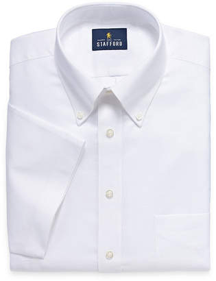 STAFFORD Stafford Travel Wrinkle Free Stretch Oxford Short Sleeve Short Sleeve Oxford Dress Shirt