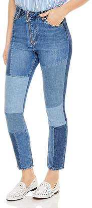 Sandro Hani Cropped Patchwork Jeans