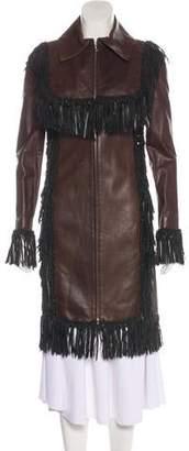 Chanel Paris-Dallas Lambskin Fringe Coat
