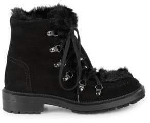 Aquatalia Lea Faux Fur Hiking Boots
