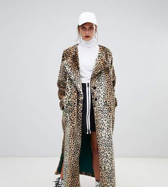 story. Of Lola Faux Fur Longline Leopard Print Coat