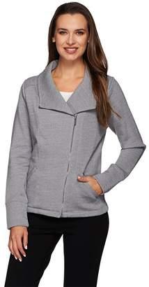 Liz Claiborne New York Fleece Back French Terry Jacket w/ Lace