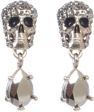c8e867cfe Alexander McQueen Skull Stone-studded Earrings