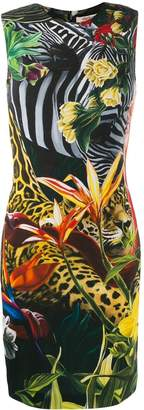 Roberto Cavalli Paradise Found fitted dress