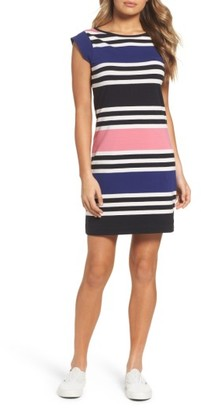 Women's French Connection Multi Jag Stripe T-Shirt Dress $98 thestylecure.com