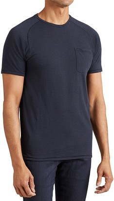 John Varvatos Star USA Microstripe Saddle Shoulder Tee $78 thestylecure.com
