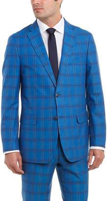 Enzo Linen-Blend Suit With Flat Front Pant