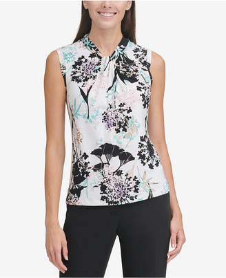 Tommy Hilfiger Sleeveless Knot-Detail Blouse