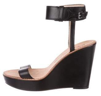 Elizabeth and James Leather Platform Wedges