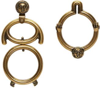 Carven Gold Figurative Earrings