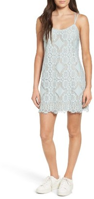 Women's Fire Strappy Lace Shift Dress $45 thestylecure.com