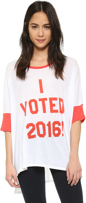 Wildfox I Voted Oversized Tee $77 thestylecure.com