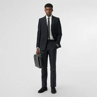 Burberry Classic Fit Mohair Linen Silk Tailored Trousers