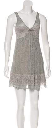 Just Cavalli Semi-Sheer Knit Dress