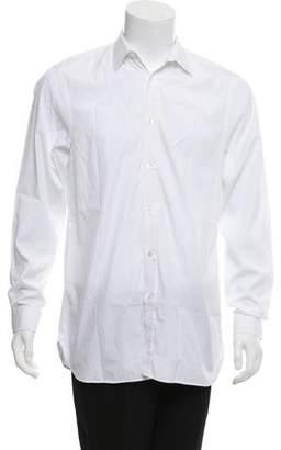 Burberry Solid Woven Dress Shirt