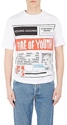 "LOEWE Men's ""Fire Of Youth"" Cotton T-Shirt $325 thestylecure.com"