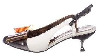 Lanvin Leather Slingback Pumps w/ Tags