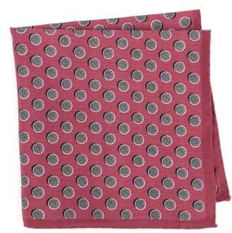 Ted Baker Dot Silk Pocket Square